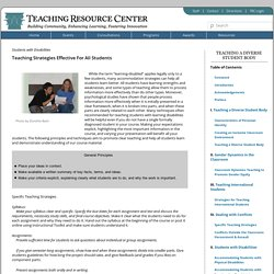 Teaching Resource Center – University of Virginia