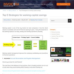 Top 5 strategies for working capital savings