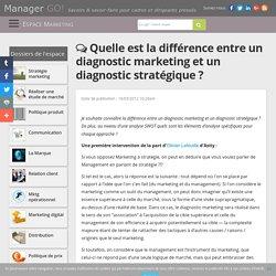 Diagnostic marketing, diagnostic stratégique : les différences