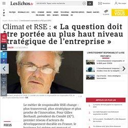 Climat et RSE: « La question doit être portée au plus haut niveau stratégique de l'entreprise », Dossiers thema