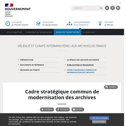 Cadre stratégique commun de modernisation des archives : 2020-2024