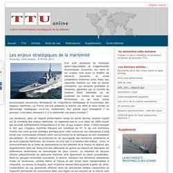 Les enjeux stratégiques de la maritimité - TTU lettre d'information
