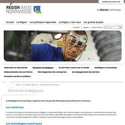 Domaines stratégiques - La Région Basse-Normandie