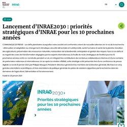 INRAE 25/01/21 Lancement d'INRAE2030 : priorités stratégiques d'INRAE pour les 10 prochaines années