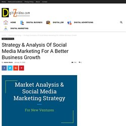 Strategy & Analysis Of Social Media Marketing For A Better Business Growth