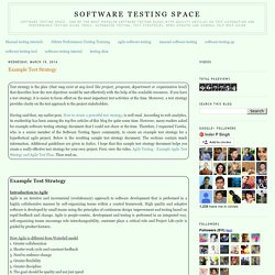 Example Test Strategy - Software Testing Articles/ Help Guide on Tools Test Automation, Strategies, Updates