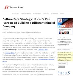 Culture Eats Strategy: Nucor's Ken Iverson on Building a Different Kind of Company