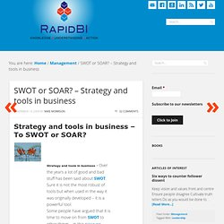 SWOT or SOAR? - Strategy and tools in business