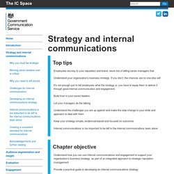 Strategy and internal communications