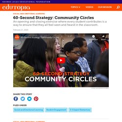 60-Second Strategy: Community Circles