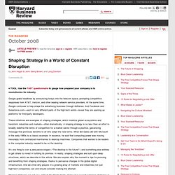 Shaping Strategy in a World of Constant Disruption