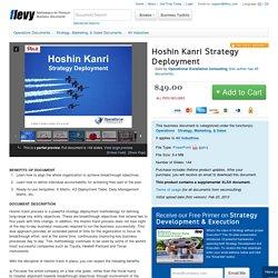 Hoshin Kanri Strategy Deployment (PowerPoint)