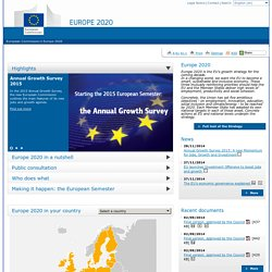 Europe 2020 – Europe's growth strategy