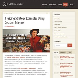 3 Pricing Strategy Examples Using Decision Science
