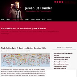 Strategy Execution - The Definitive Guide - Jeroen De Flander