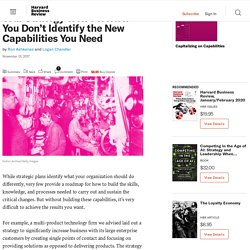 Your Strategy Won't Work If You Don't Identify the New Capabilities You Need