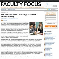 The Eyes of a Writer: A Strategy for Improving Students' Writing Skills