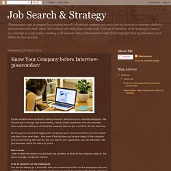 Job Search & Strategy: Know Your Company before Interview-30secondscv