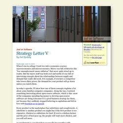Strategy Letter V