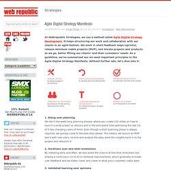 Agile Digital Strategy Manifesto