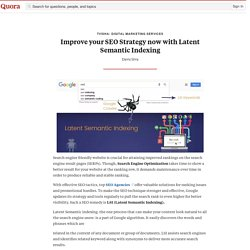 Improve your SEO Strategy now with Latent Seman... - Tvisha- Digital Marketing Services - Quora