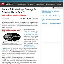 Are You Still Missing a Strategy for Negative Social Posts?