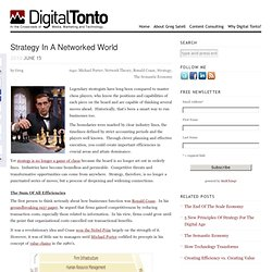 Strategy In A Networked World