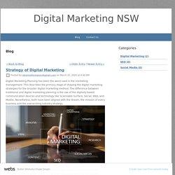 Strategy of Digital Marketing