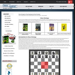 Strategy for Chess Openings and Chess Principles