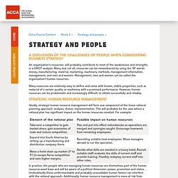Strategy and people