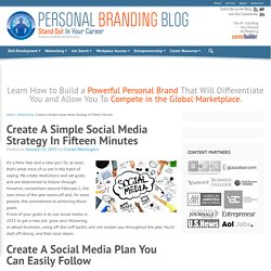 Create A Simple Social Media Strategy In Fifteen Minutes