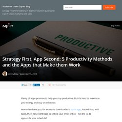 Strategy First, App Second: 5 Productivity Methods, and the Apps that Make them Work