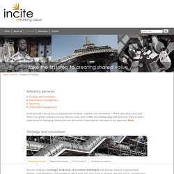 Strategy and reporting - Incite