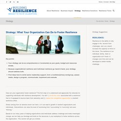 Strategy - Building Resilience: A Workplace Strategy