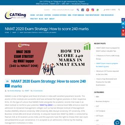 NMAT 2020 Exam Strategy: How to score 240 marks - CATKing Educare