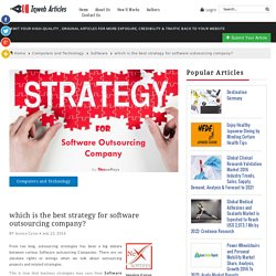 best strategy for software outsourcing company