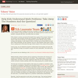 Strategy To Help Students Understand Math Problems