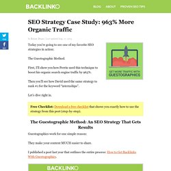 SEO Strategy Case Study: From #6 to #1 In One Week
