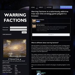 Free Online Strategy Game: Warring Factions