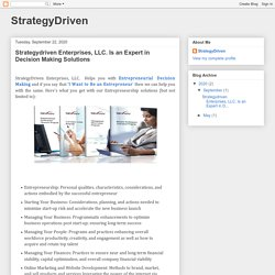 StrategyDriven: Strategydriven Enterprises, LLC. Is an Expert in Decision Making Solutions