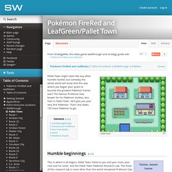 Pokémon FireRed and LeafGreen/Pallet Town