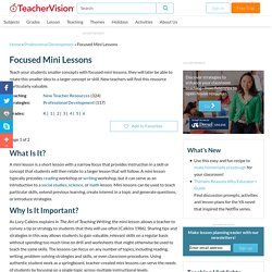 Focused Mini Lessons: Teaching Stratgies for the Classroom (Grades K-6) - TeacherVision