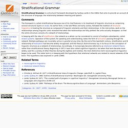 Stratificational Grammar - Glottopedia