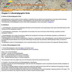 Geologic TimeScale Foundation - Stratigraphic Information