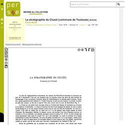 La stratigraphie du Cluzel (commune de Toulouse)