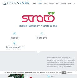 Strato Pi - Industrial Raspberry Pi - UPS RTC CAN RS485 RS232 CE FCC