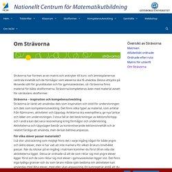Om Strävorna – NCM:s och Nämnarens nya webbplats