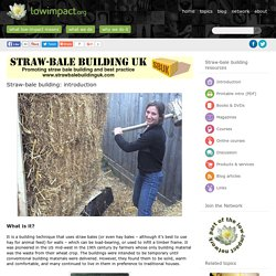 Straw-bale building
