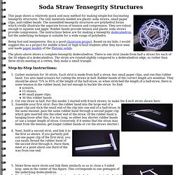 Soda Straw Tensegrity Structures