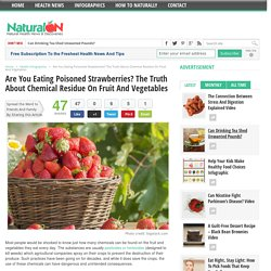 Are You Eating Poisoned Strawberries? The Truth About Chemical Residue On Fruit And Vegetables